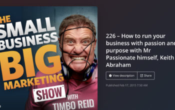 MY INTERVIEW ON THE SMALL BUSINESS BIG MARKETING SHOW