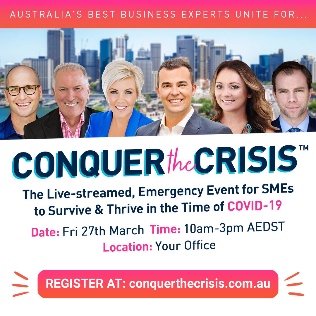 Conquer The Crisis Friday 27th March 2020